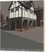 Market Harborough Grammar School Wood Print