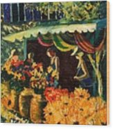 Market In Provence Wood Print