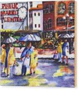 Market Wood Print