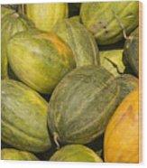 Market Melons Wood Print
