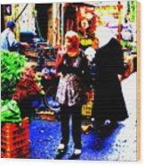 Market Scenes Of Beirut Wood Print