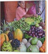 market stall in Nicaragua Wood Print