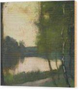Markischer See Am Abend Wood Print