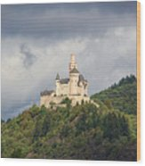 Marksburg Castle Wood Print