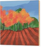 Marlborough Fall Wood Print