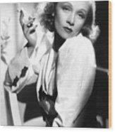 Marlene Dietrich Wood Print