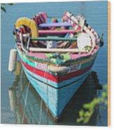 Marley Rowboat Rodney Bay Saint Lucia Wood Print