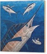 Marlin And Ahi Wood Print