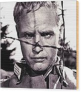 Marlon Brando As Lt. Diestl Publicity Photo The Young Lions 1958 Color Added 2016 Wood Print