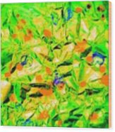 Orange Green Wood Print