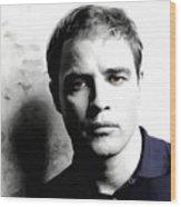 Marlon Brando Portrait #1 Wood Print