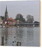 Marlow By The River Thames Wood Print
