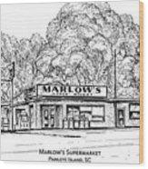 Marlows Market Wood Print