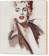 Marilyn Manroe Wood Print