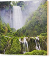 Marmore Waterfalls Italy Wood Print