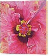 Maron's Hibiscus Wood Print