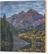 Maroon Bells Colorado Dsc06628 Wood Print