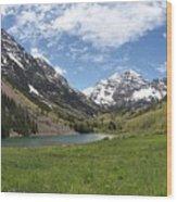 Maroon Bells Wilderness Panorama Wood Print
