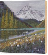 Maroon Lake Wood Print