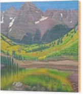 Maroon Lake Wood Print