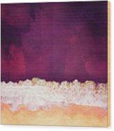 Maroon Ocean Wood Print