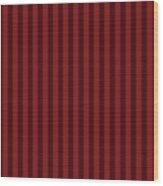 Maroon Red Striped Pattern Design Wood Print