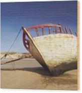 Marooned Boat Wood Print