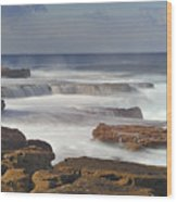 Maroubra Seascape 01 Wood Print by Barry Culling