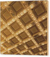 Marquee Lights On Theater Ceiling Wood Print