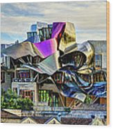 marques de riscal Hotel at sunset - frank gehry Wood Print