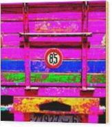 Marrakech Truck Wood Print