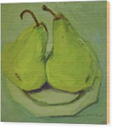 Marriage Of The Pears Wood Print