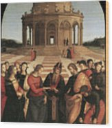 Marriage Of The Virgin - 1504 Wood Print