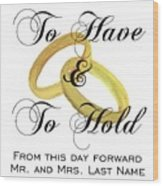 Marriage Vows Wood Print