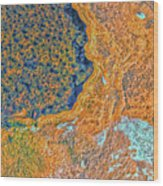 Mars Abstract Wood Print