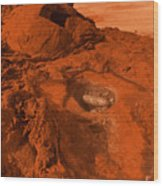 Mars Landscape Wood Print