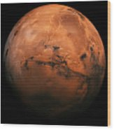 Mars The Red Planet Wood Print