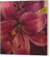 Marsala Lily Wood Print