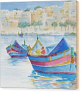 Marsaxlokk Bay Wood Print