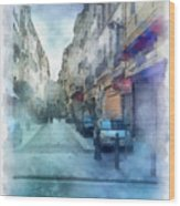 Marseille Back Street Wood Print