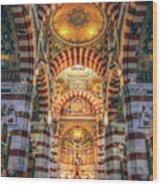 Marseille, France, Inside Of Notre-dame De La Garde Catholic Basilica Wood Print