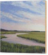 Marsh Blush Wood Print