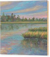 Marsh Glow in the Low Country Wood Print
