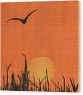 Marsh Home Wood Print