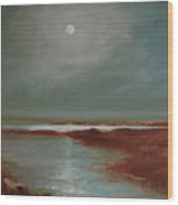 Marsh Moon.12x16.oil Wood Print
