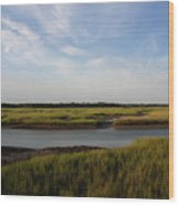 Marsh Scene Charleston Sc Wood Print
