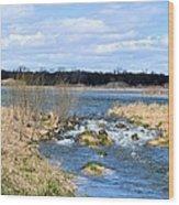 Marsh Spill Way Wood Print