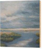 Marsh View Wood Print