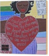 Marsha P Johnson Wood Print