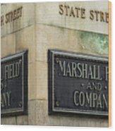 Marshal Field And Company Wood Print